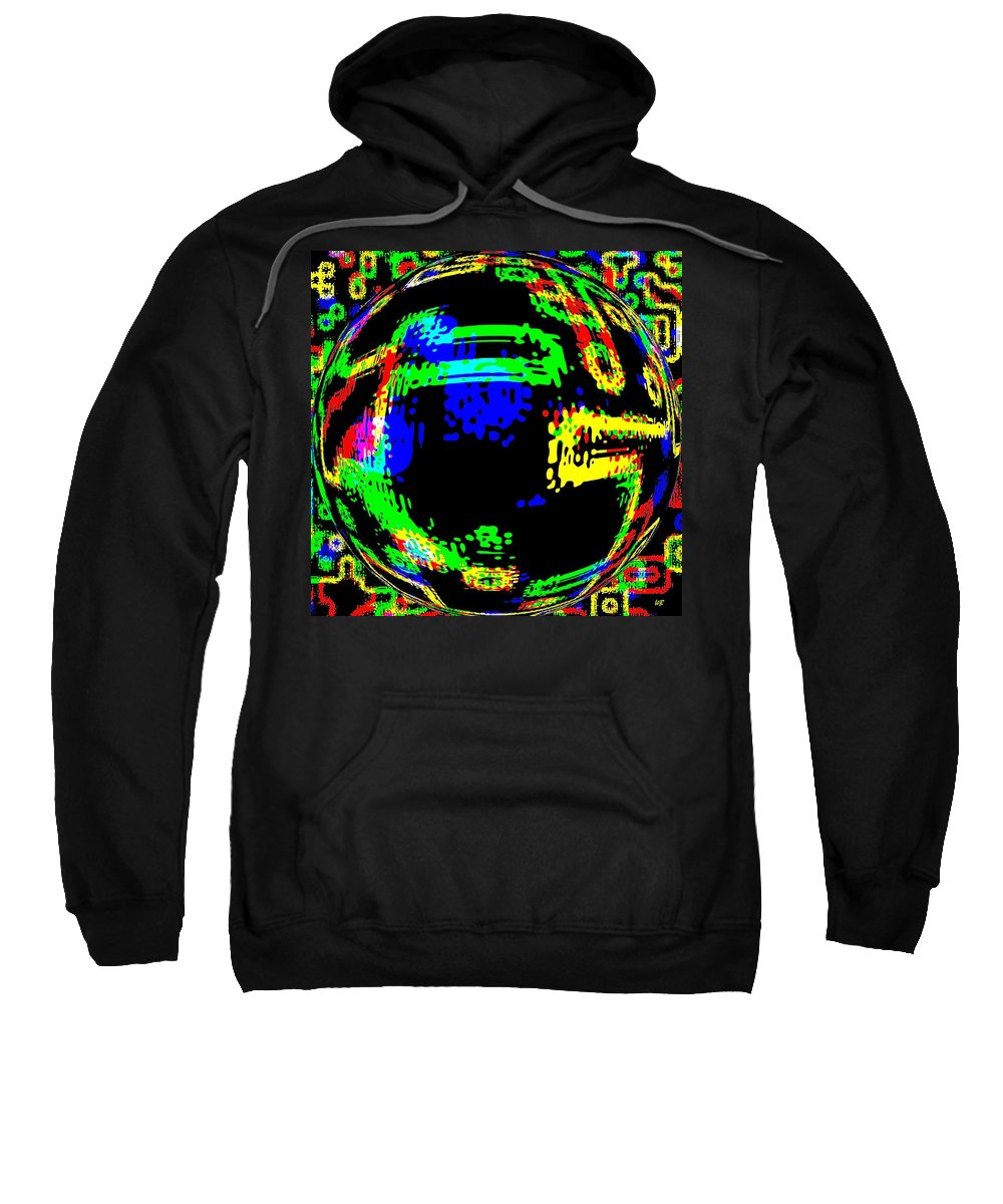 Abstract Sweatshirt featuring the digital art Harmony 13 by Will Borden
