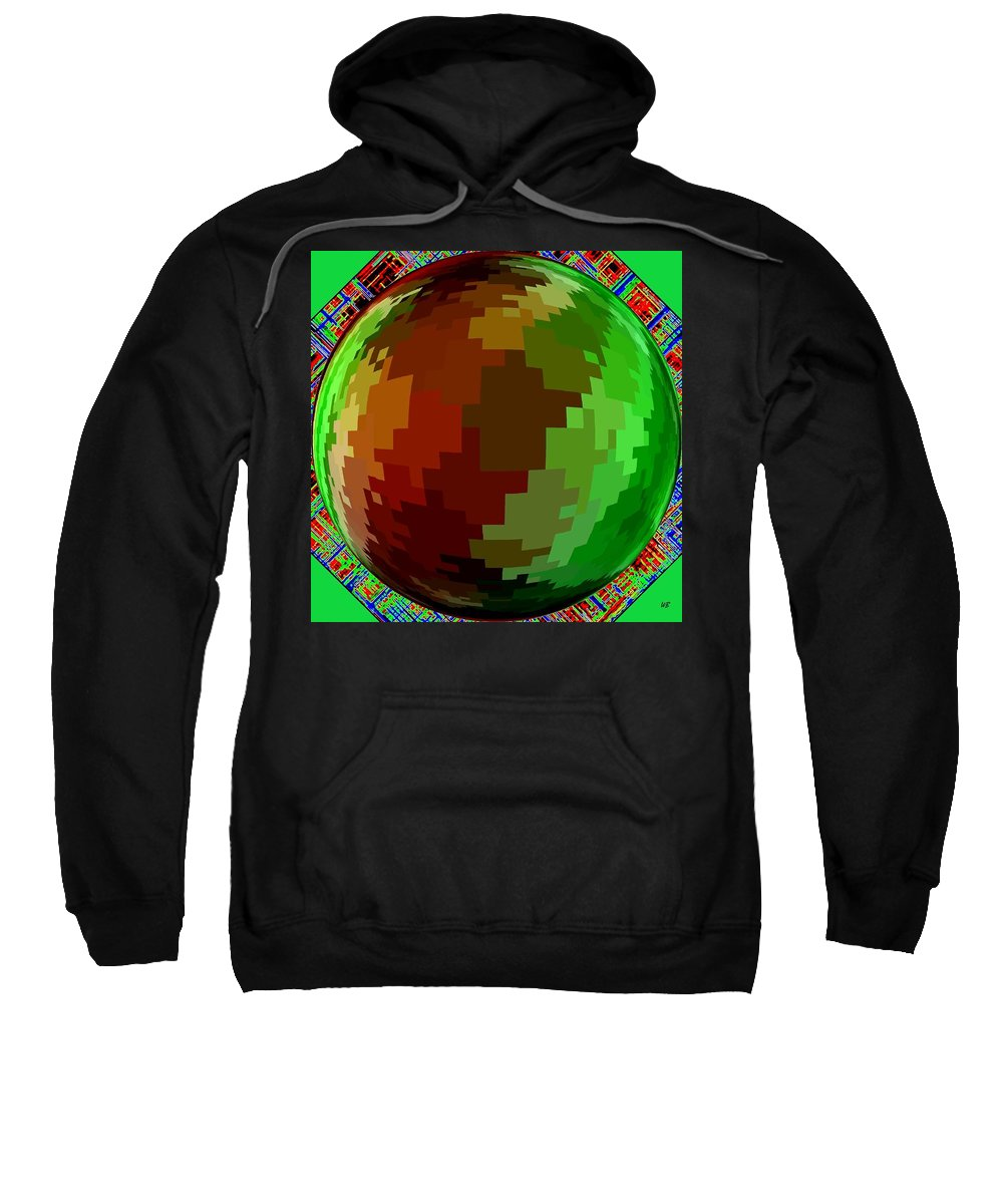 Abstract Sweatshirt featuring the digital art Harmony 2 by Will Borden