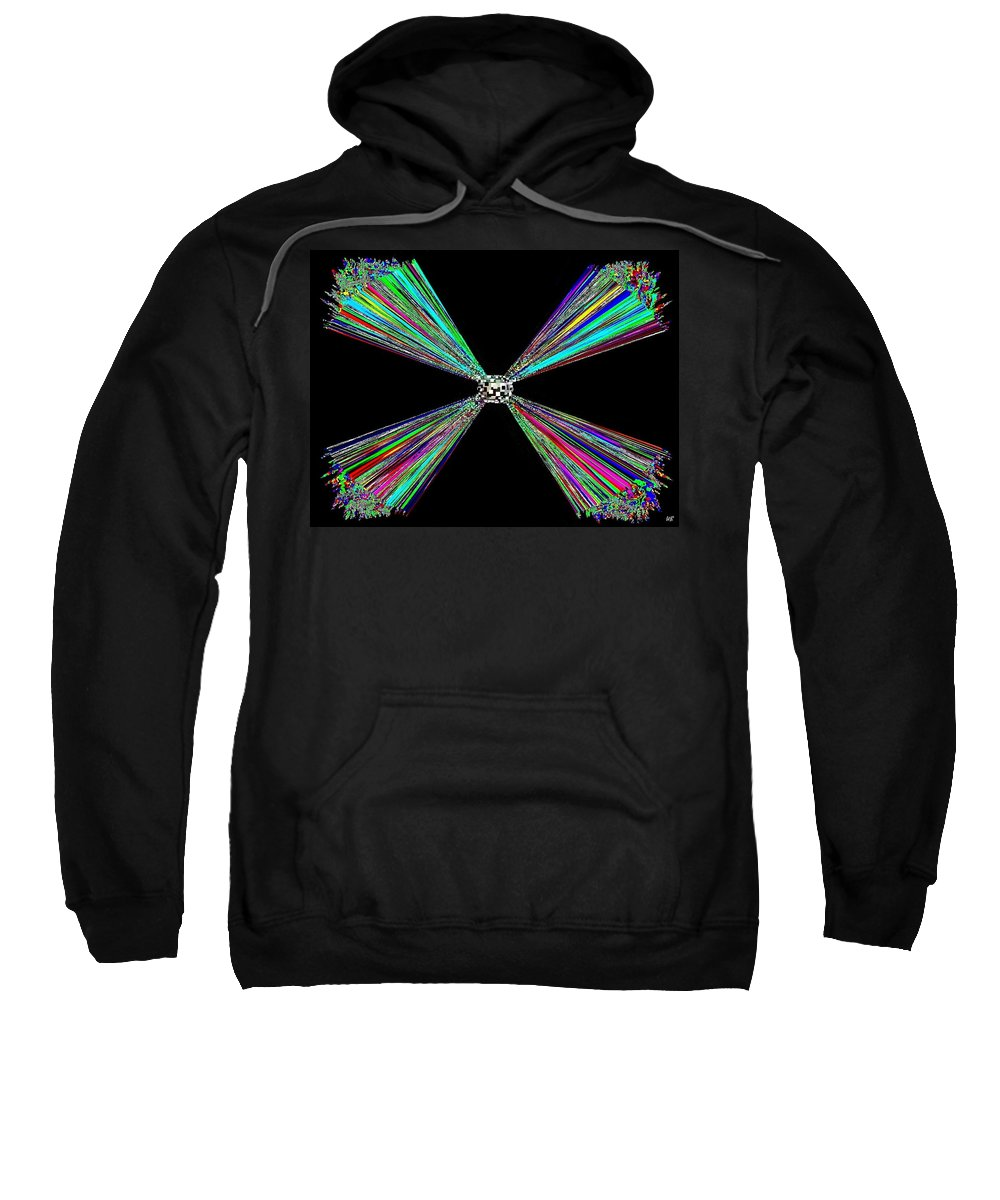 Abstract Sweatshirt featuring the digital art Harmony 25 by Will Borden