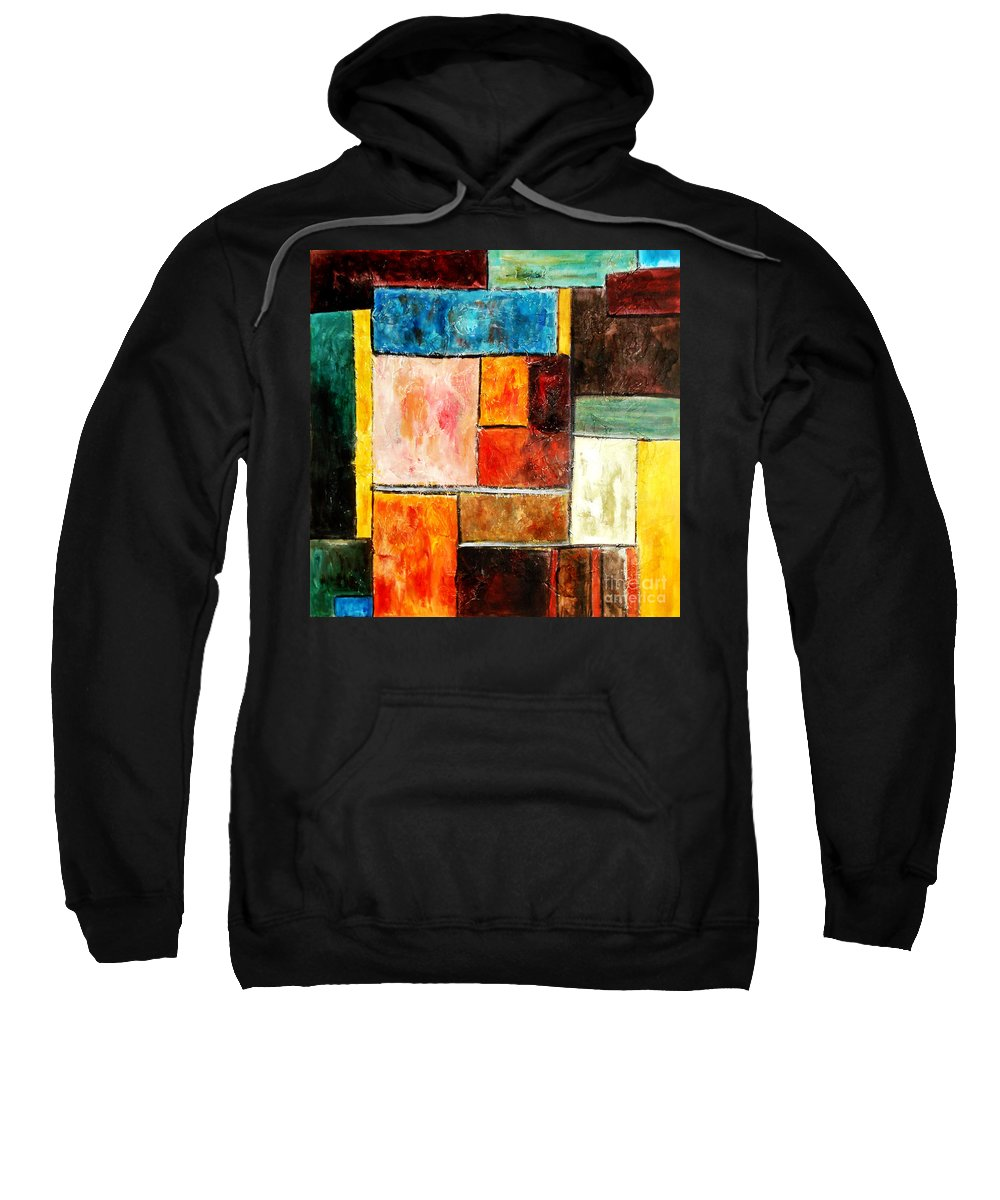 Acrylic Painting Sweatshirt featuring the painting Harmony by Yael VanGruber