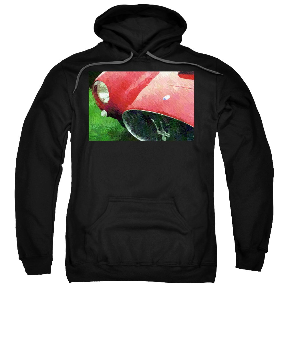 Automobile Sweatshirt featuring the photograph Hatched Maser by Alan Olmstead