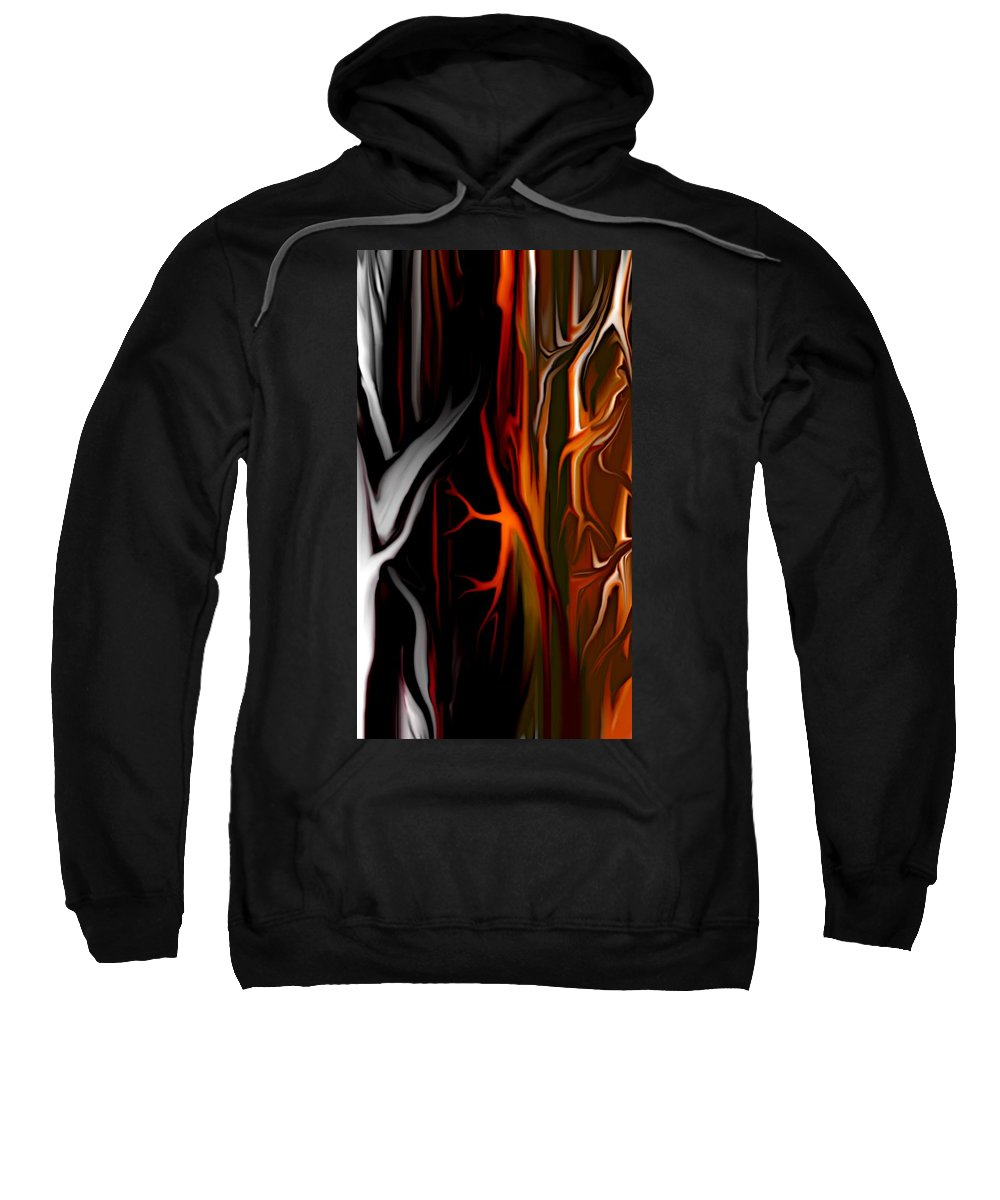 Abstract Digital Painting Sweatshirt featuring the digital art Haunted by David Lane