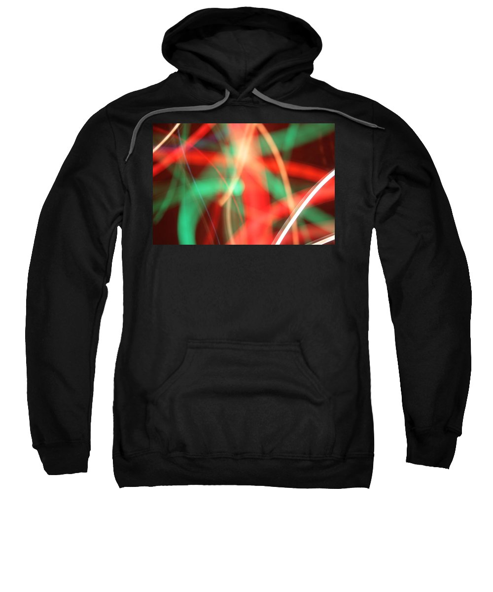 Abstract Sweatshirt featuring the photograph Have Yourself An Abstract Little Christmas by Ric Bascobert
