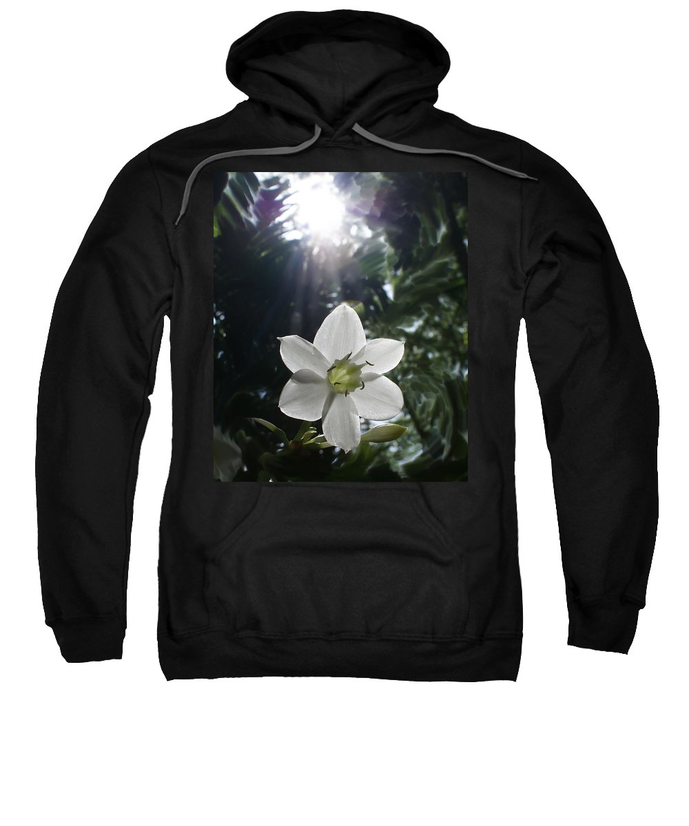 Hawaiian Sweatshirt featuring the photograph Hawaiian Flower by Heather Coen