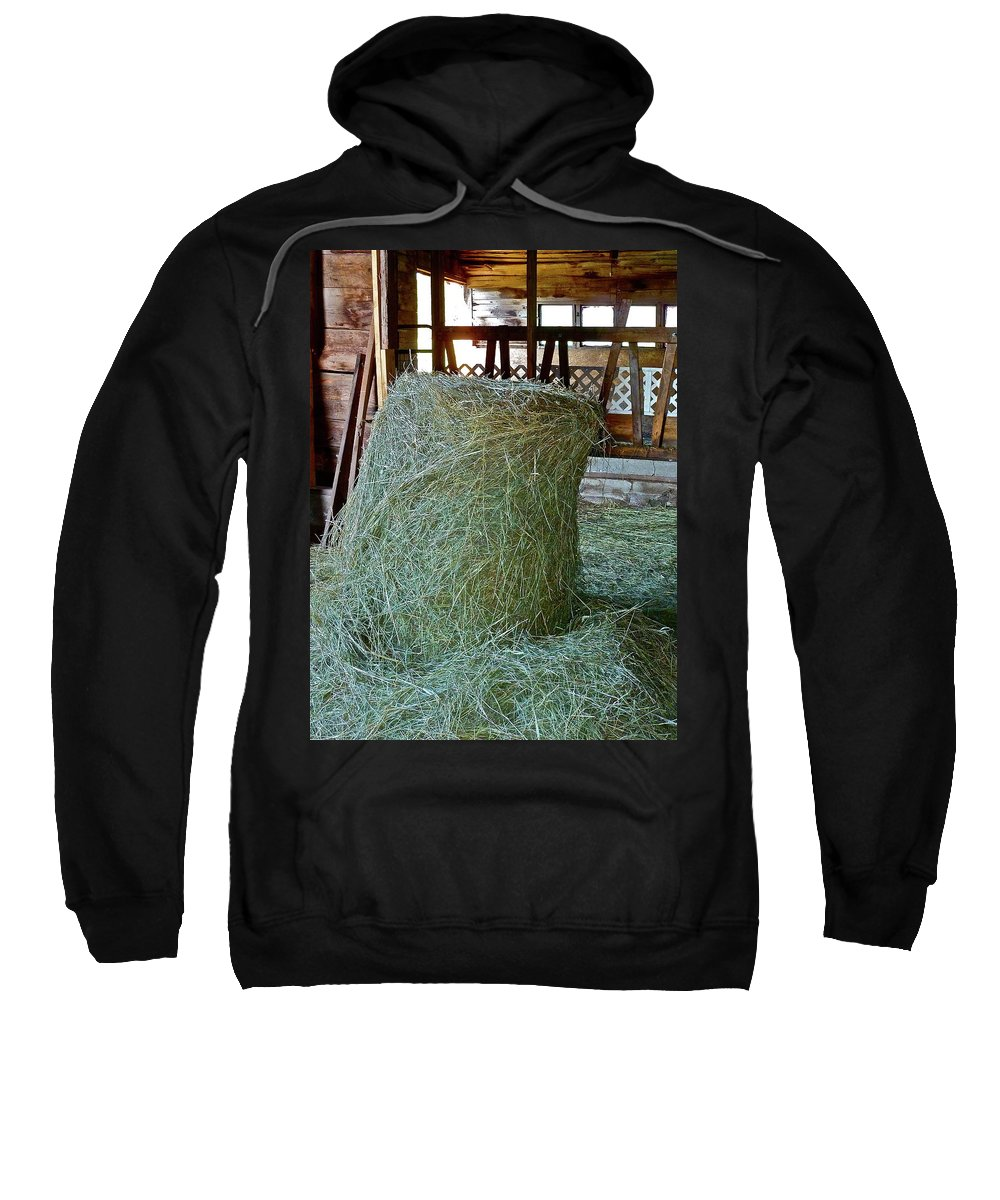 Hay Sweatshirt featuring the photograph Hay Is For Horses by Diana Hatcher