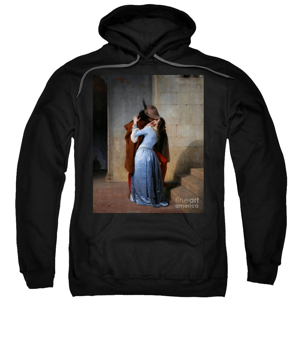 19th Century Sweatshirt featuring the painting Hayez, The Kiss by Granger