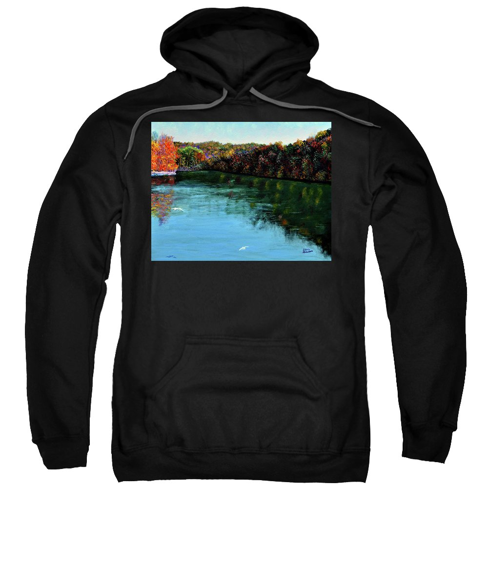 Lake Sweatshirt featuring the painting Hdemo1 by Stan Hamilton