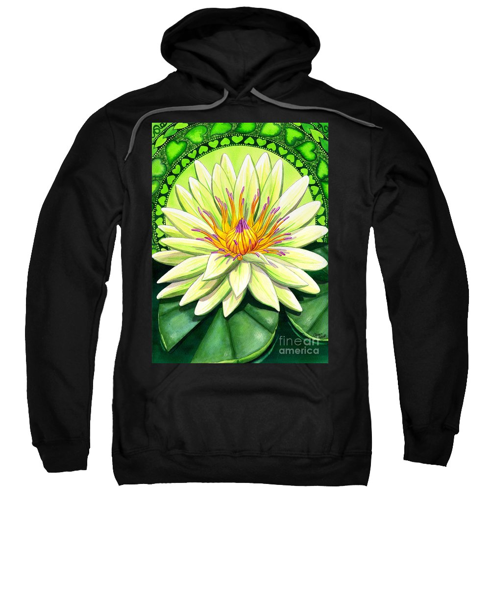 Heart Sweatshirt featuring the painting Heart Chakra by Catherine G McElroy