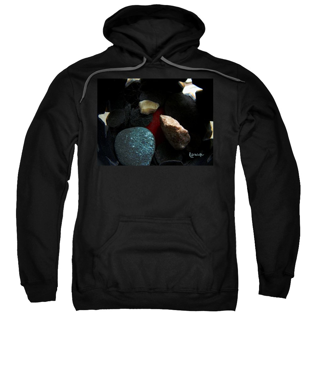 Rocks Sweatshirt featuring the photograph Heart Of Stone by RC DeWinter