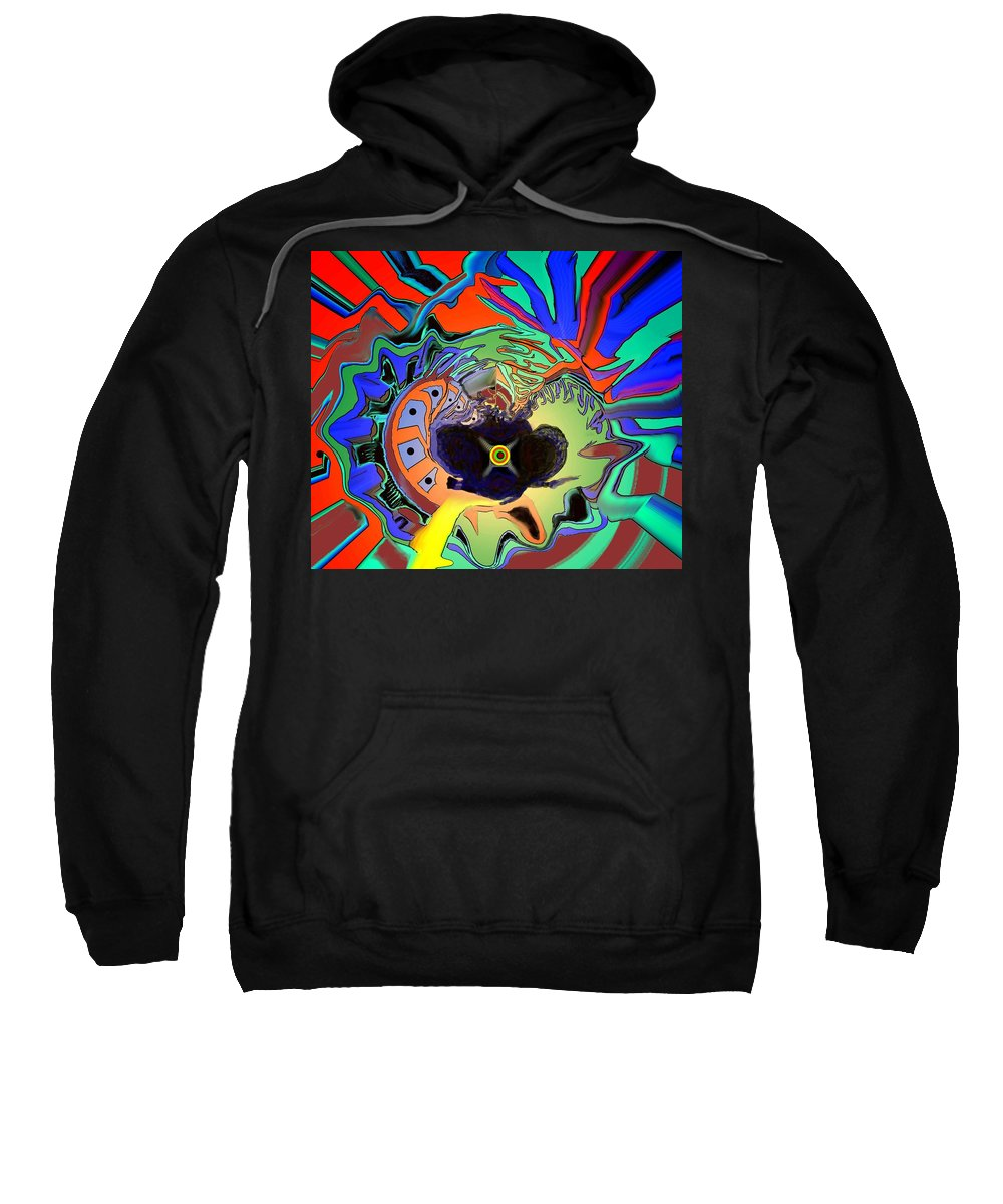 Abstract Sweatshirt featuring the digital art Heart Of The Matter by Ian MacDonald