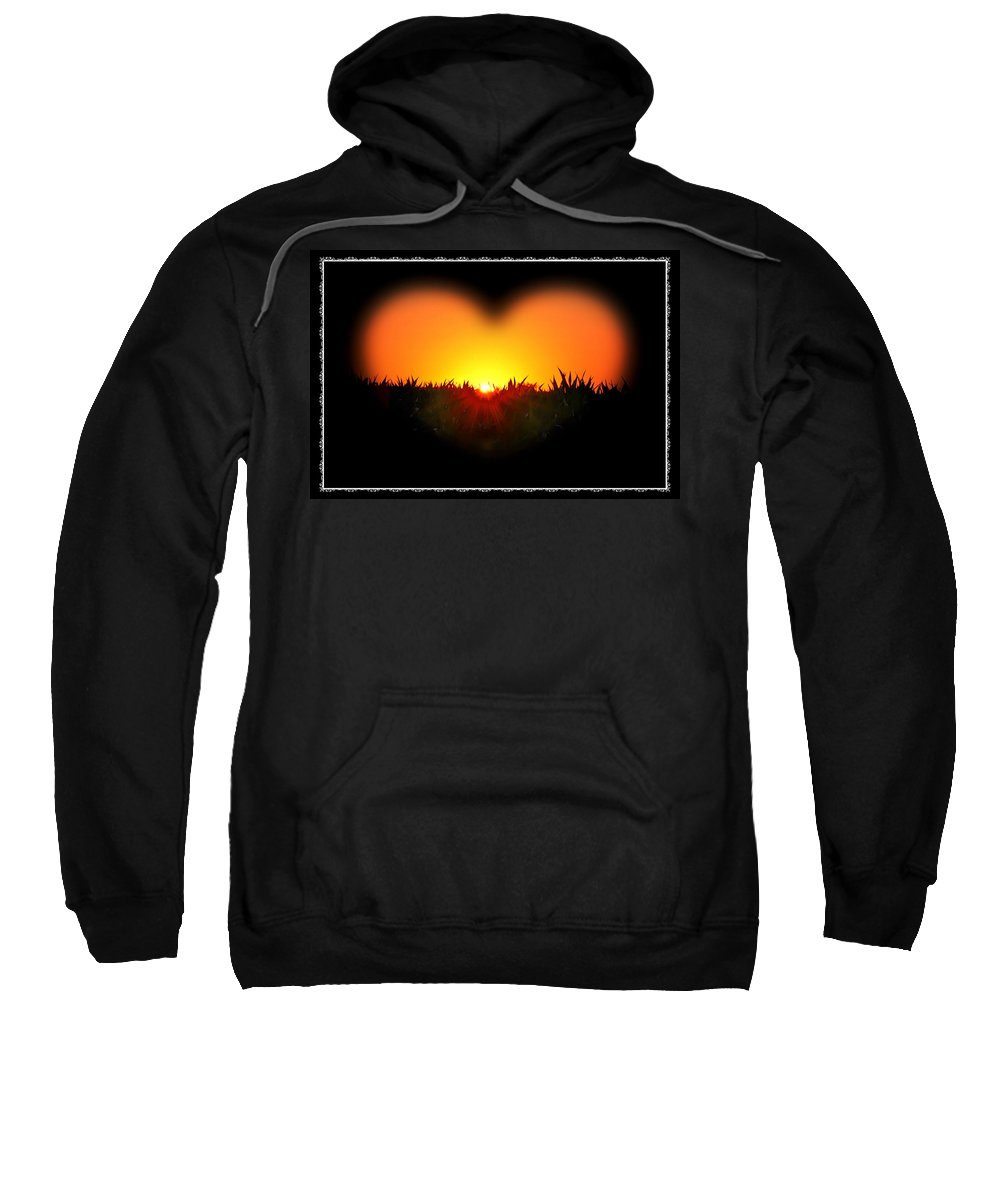 Heart Sweatshirt featuring the photograph Heart Of The Sunrise by Bill Cannon