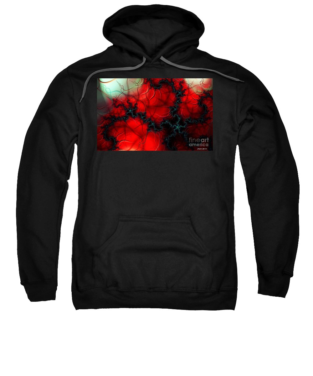 Clay Sweatshirt featuring the digital art Heart Pulse by Clayton Bruster