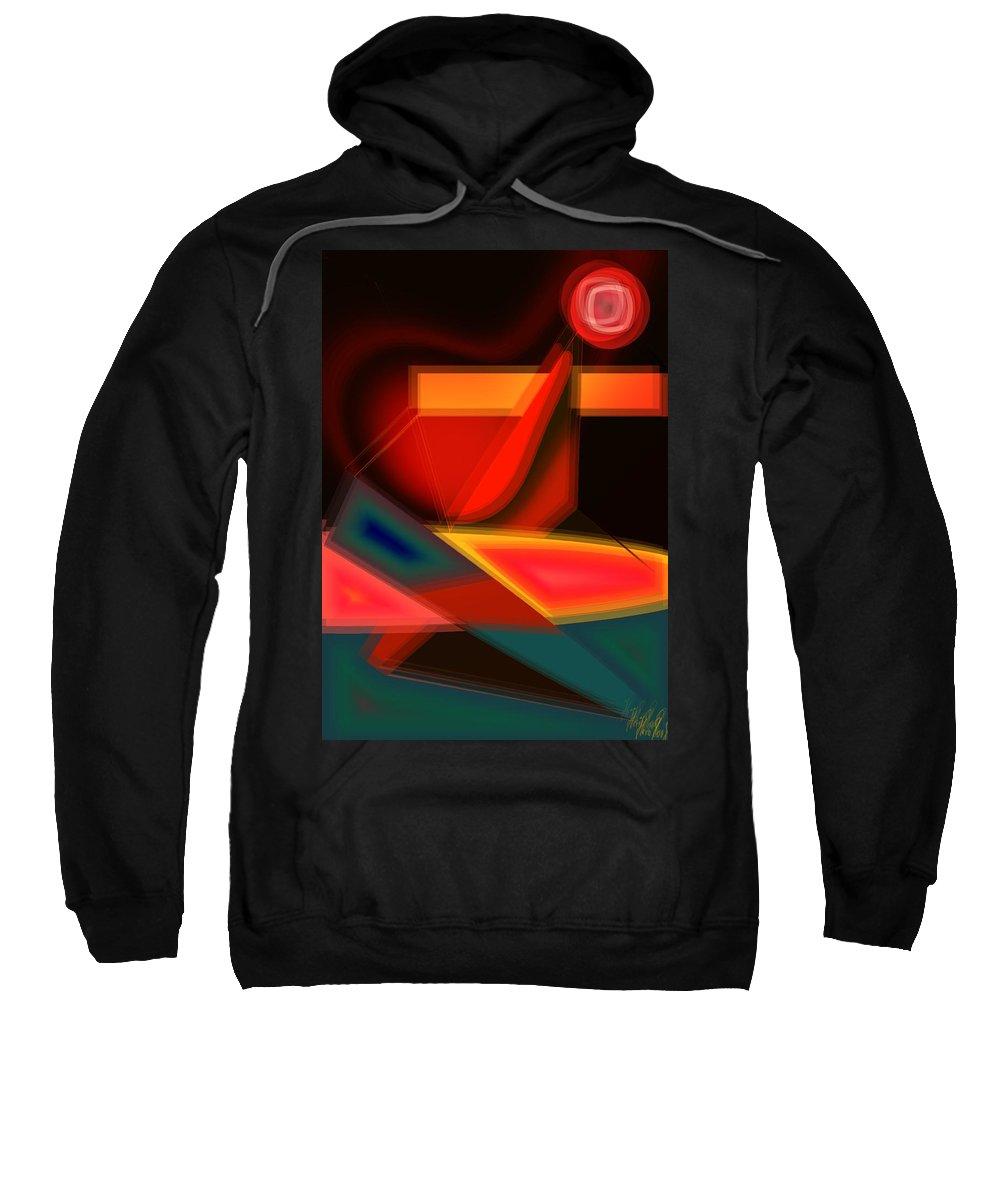 Heartbeat Sweatshirt featuring the digital art Heartbeats by Helmut Rottler