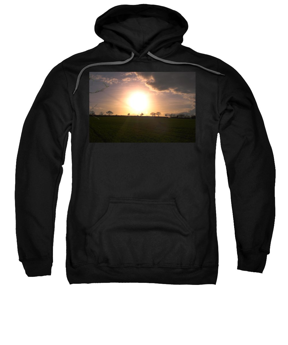 Sunset Sweatshirt featuring the photograph Heavenly Sunset Over Suffolk by Susan Baker