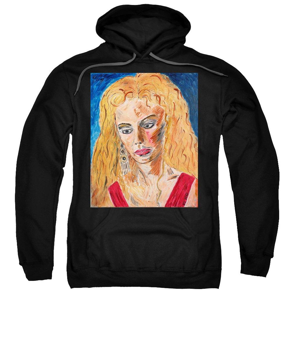 Helen Sweatshirt featuring the painting Helen Of Troy by Valerie Ornstein