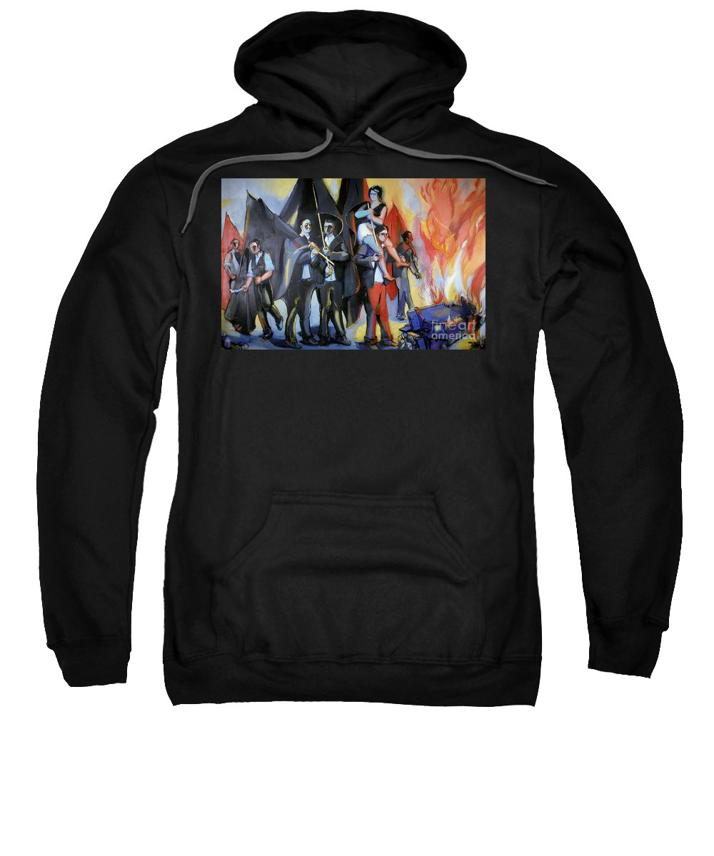 1968 Sweatshirt featuring the photograph Helion: Paris Riots, 1968 by Granger