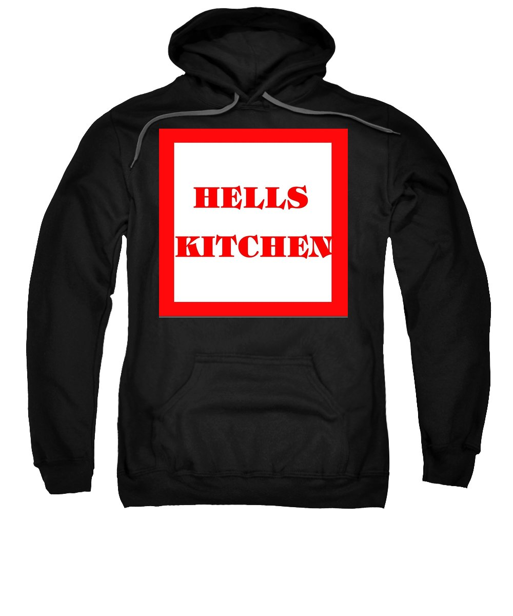 New York Sweatshirt featuring the photograph Hells Kitchen Red by Florene Welebny