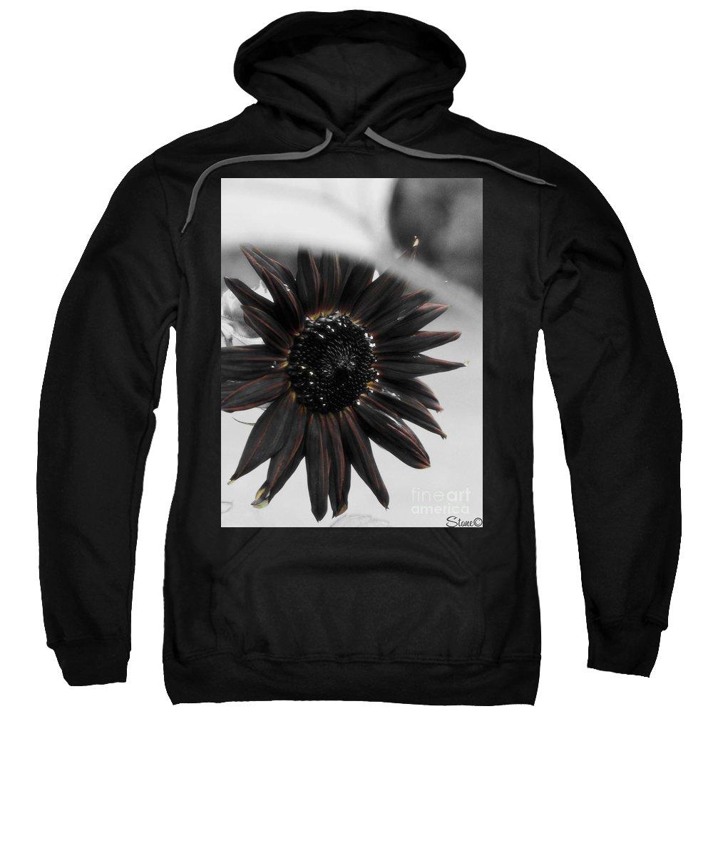 Sunflower Sweatshirt featuring the photograph Hells Sunflower by September Stone