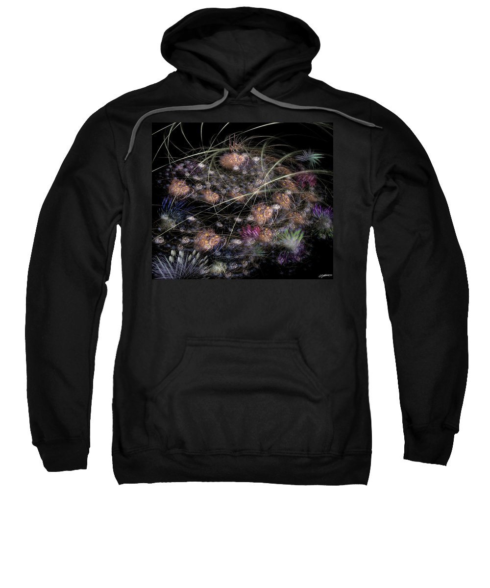 Abstract Sweatshirt featuring the digital art Herbaceous by Casey Kotas
