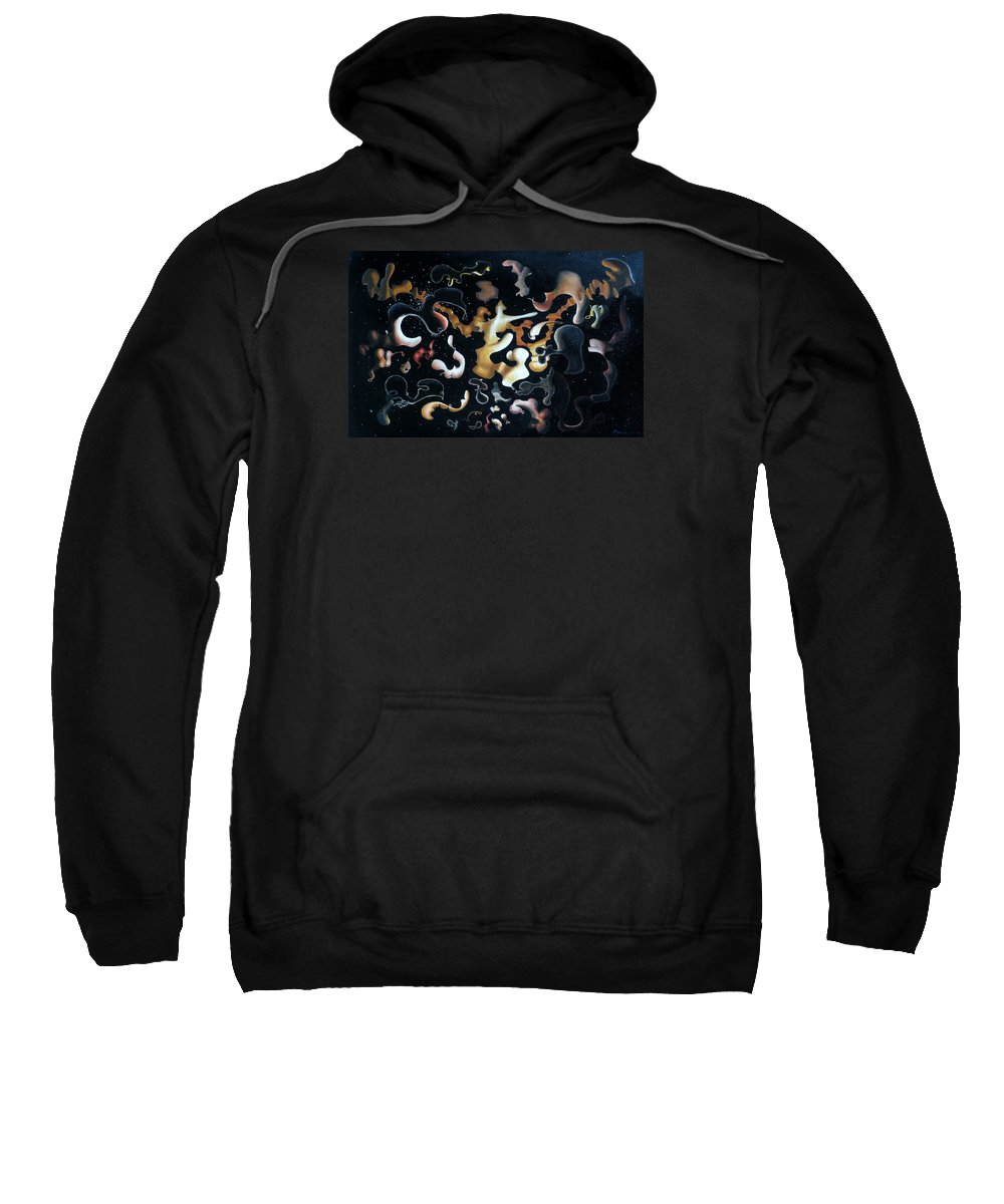 Abstract Sweatshirt featuring the painting Herculean Construction by Dave Martsolf