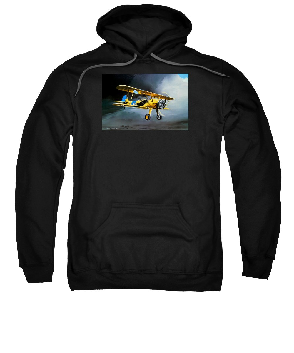 Military Sweatshirt featuring the painting Here Comes The Sun by Marc Stewart