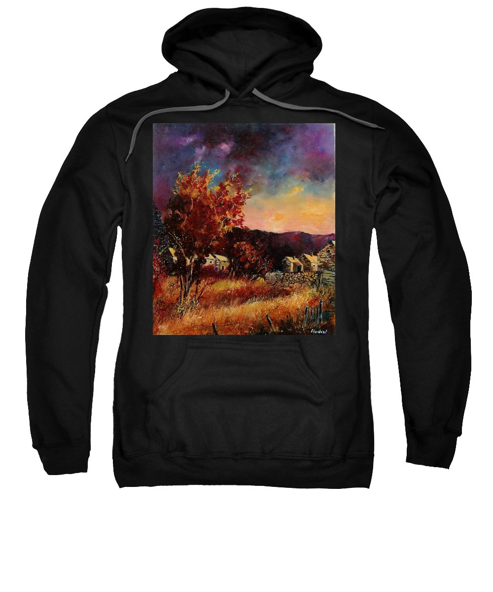 Tree Sweatshirt featuring the painting Herhet by Pol Ledent