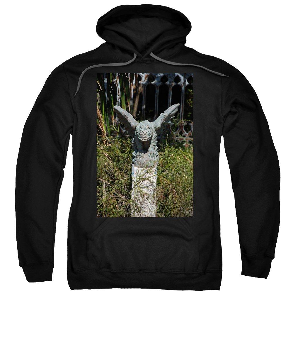 Gargoyle Sweatshirt featuring the photograph Herman Gargoyle by Rob Hans