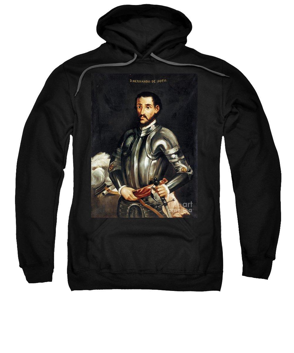 16th Century Sweatshirt featuring the painting Hernando De Soto by Granger