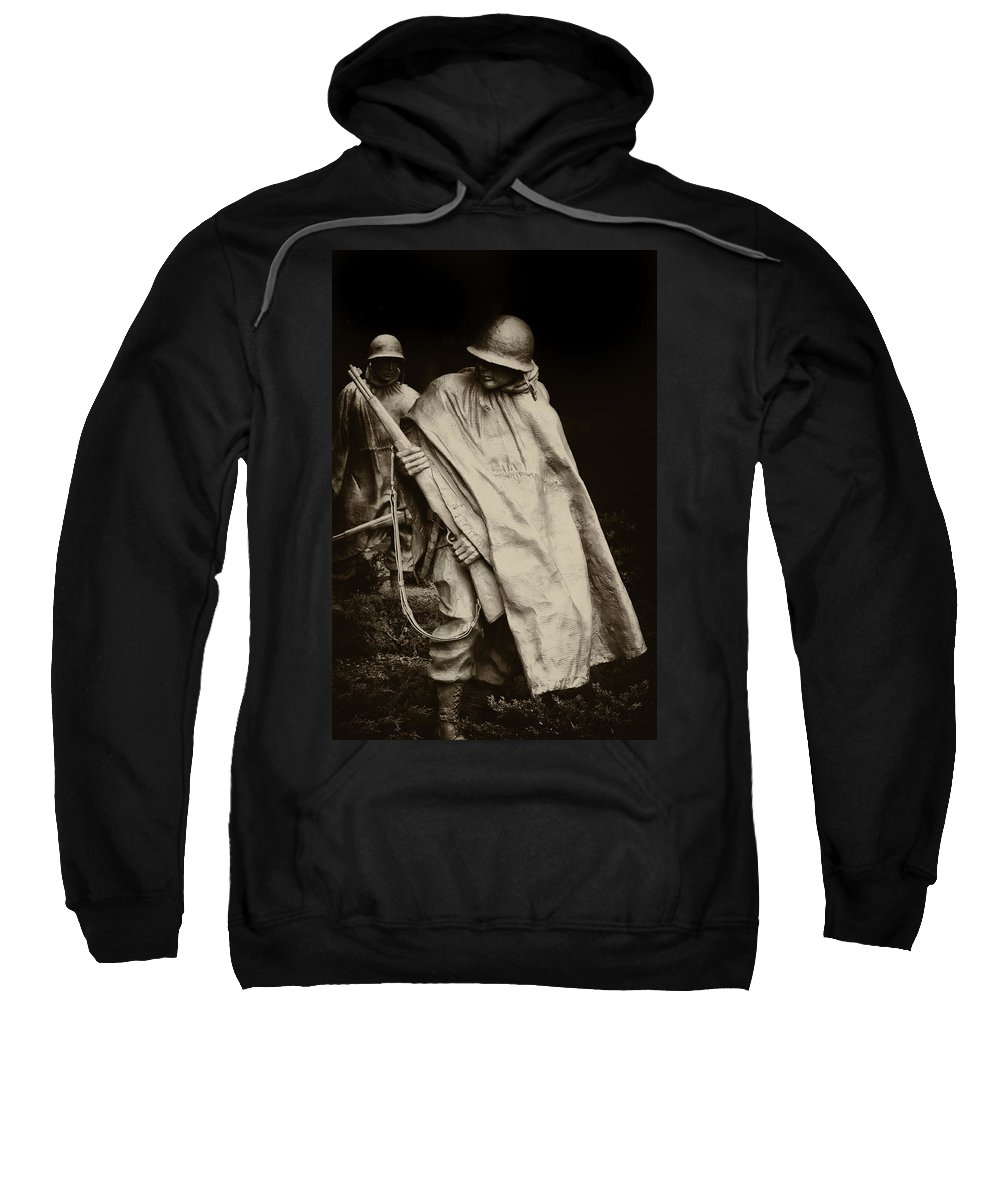 War Sweatshirt featuring the photograph Heroes by Bill Cannon