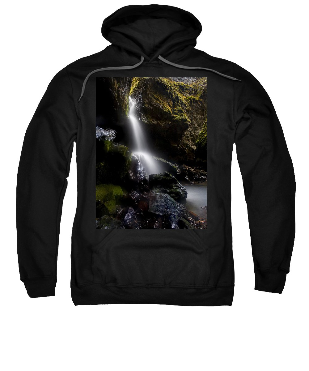 Waterfall Sweatshirt featuring the photograph Hidden Falls by Mike Dawson