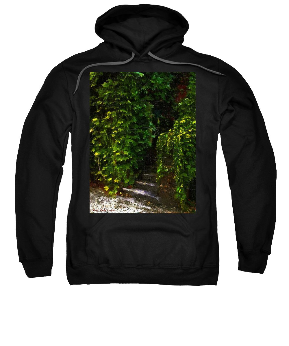 Cottage Sweatshirt featuring the painting Hidden Hermitage by RC DeWinter