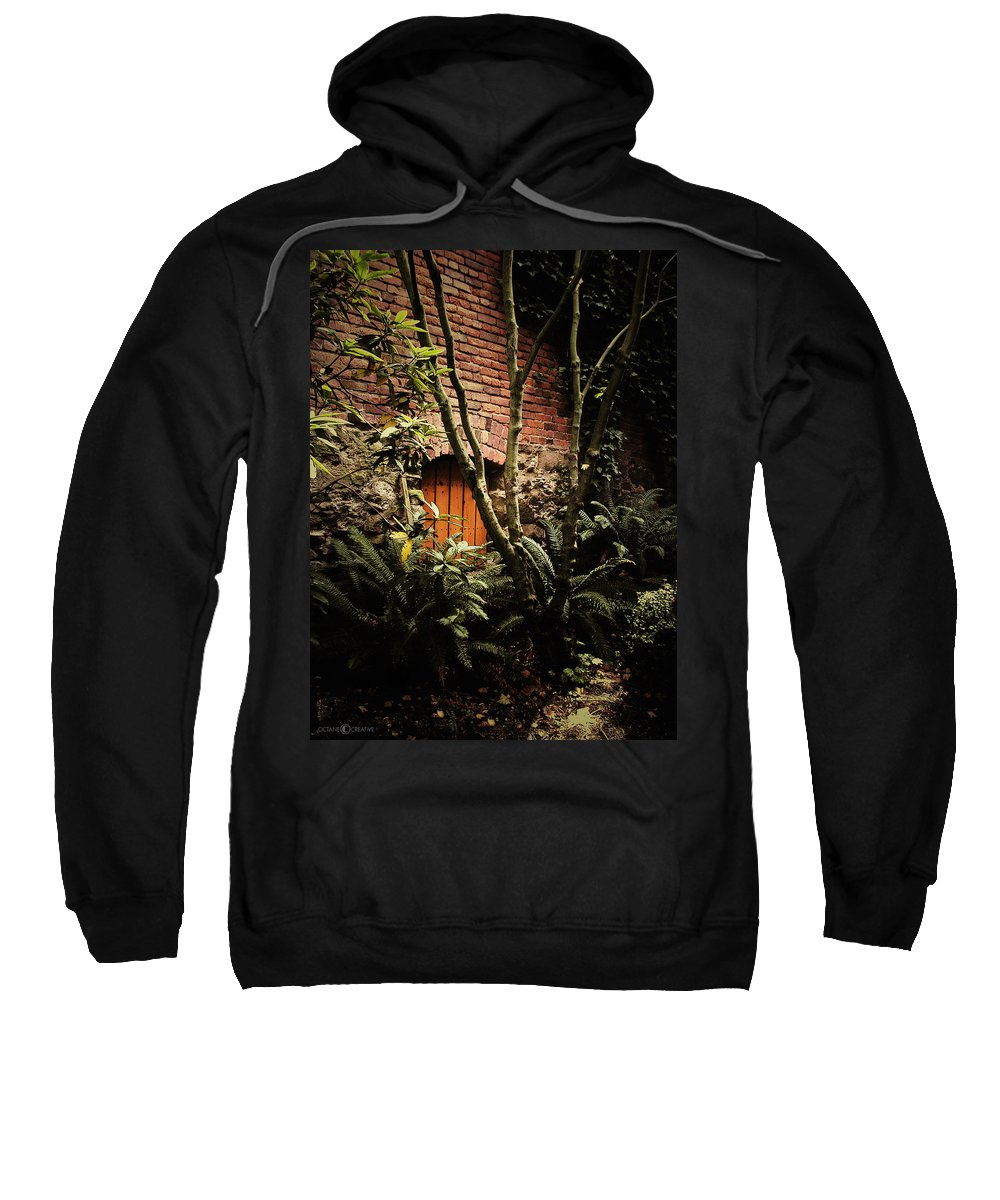 Brick Sweatshirt featuring the photograph Hidden Passage by Tim Nyberg