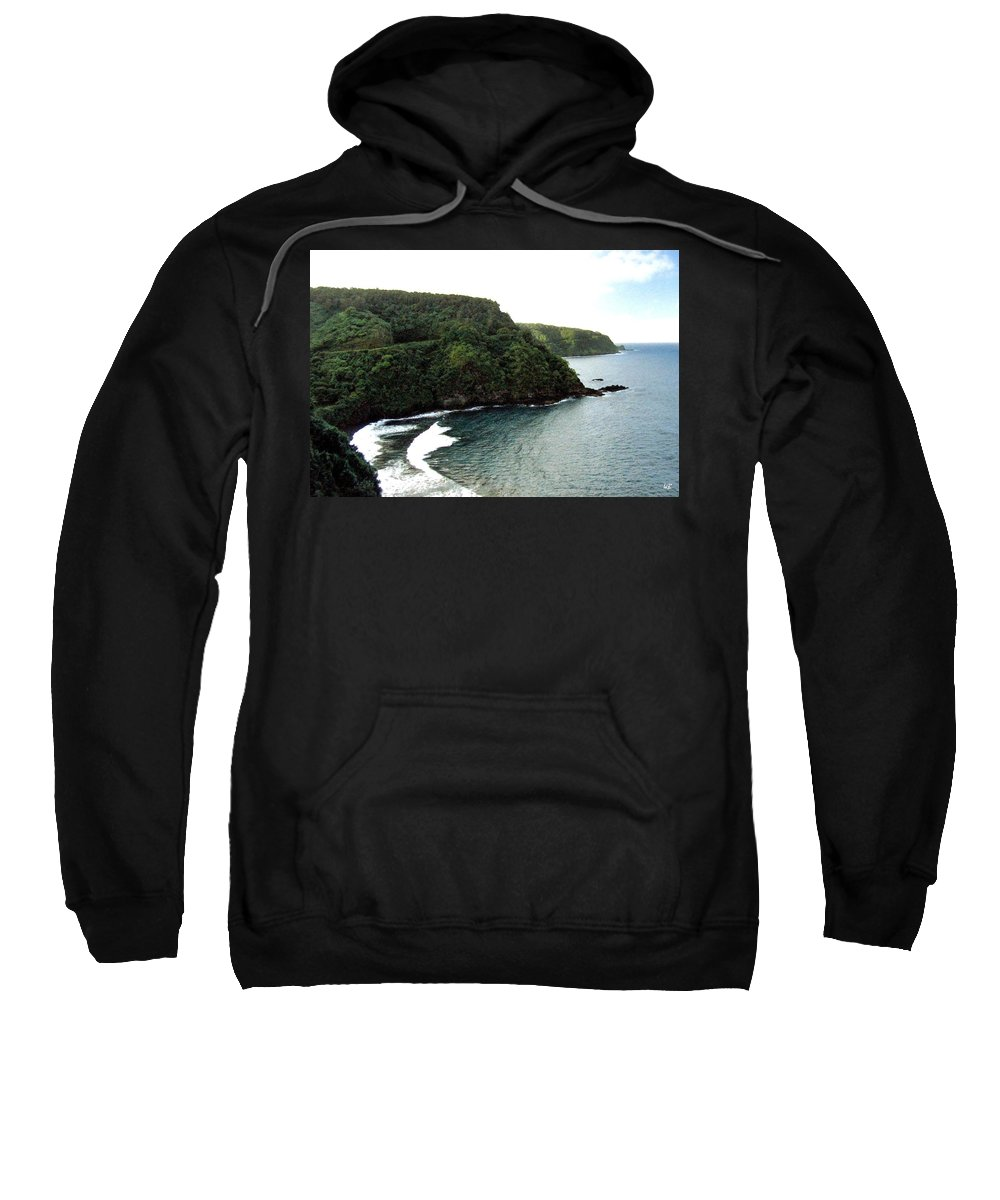 1986 Sweatshirt featuring the photograph Highway To Hana by Will Borden
