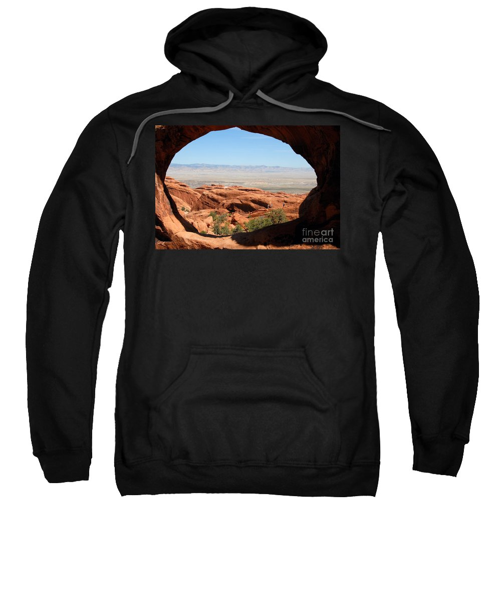 Arches National Park Utah Sweatshirt featuring the photograph Hiking Through Arches by David Lee Thompson