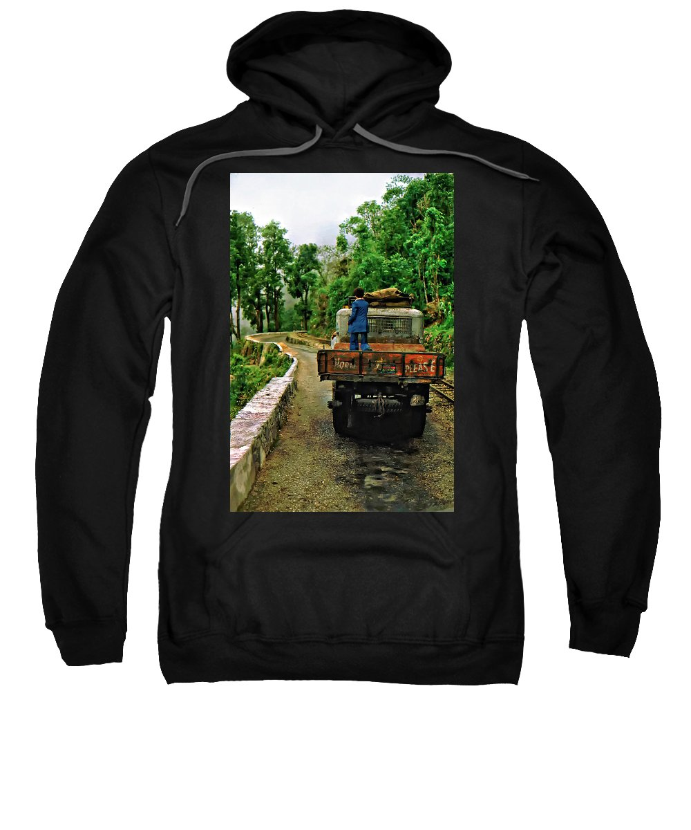 Darjeeling Sweatshirt featuring the photograph Himalayan Limo by Steve Harrington