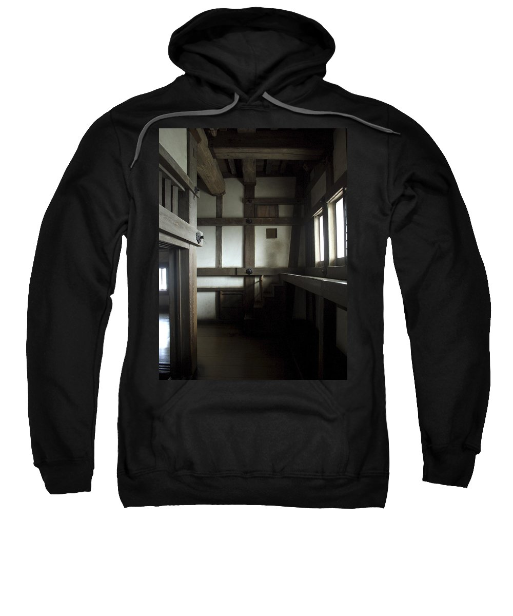 Himeji Sweatshirt featuring the photograph Himeji Medieval Castle Interior - Japan by Daniel Hagerman