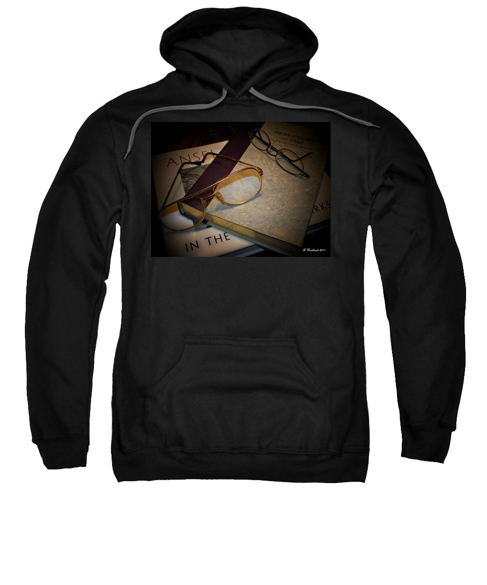 Eyeglasses Sweatshirt featuring the photograph His And Hers - A Still Life by Betty Northcutt