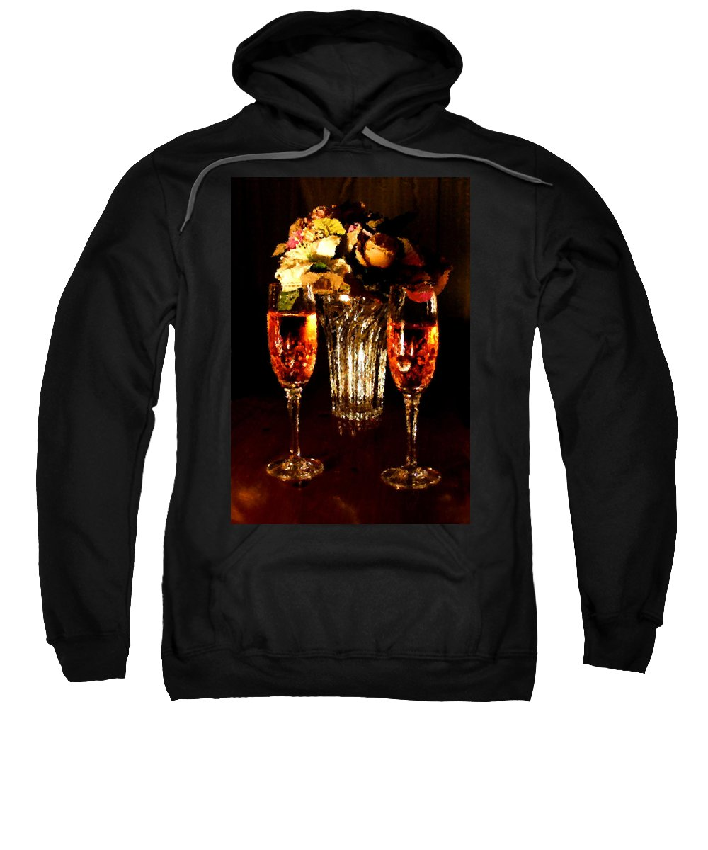 Glass Sweatshirt featuring the digital art His And Hers by Kristin Elmquist