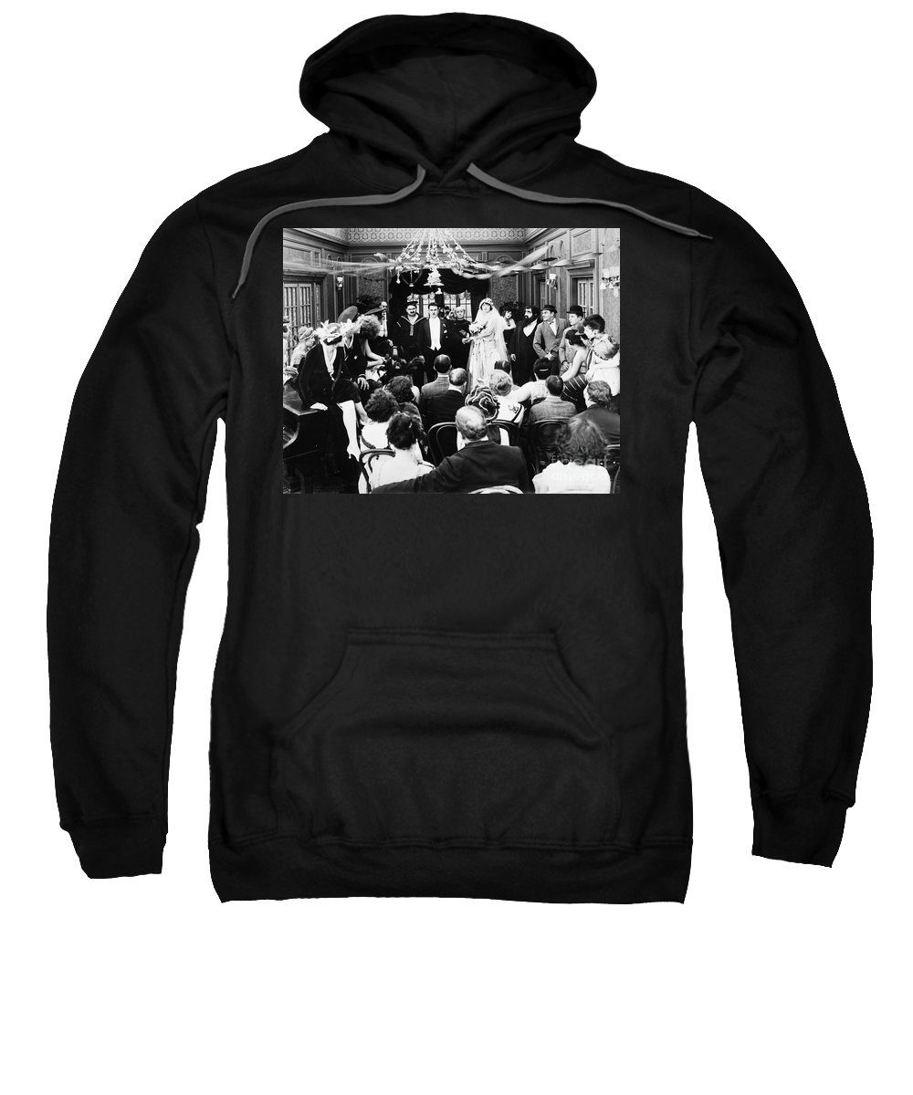 -weddings & Gowns- Sweatshirt featuring the photograph His Last False Step, 1919 by Granger