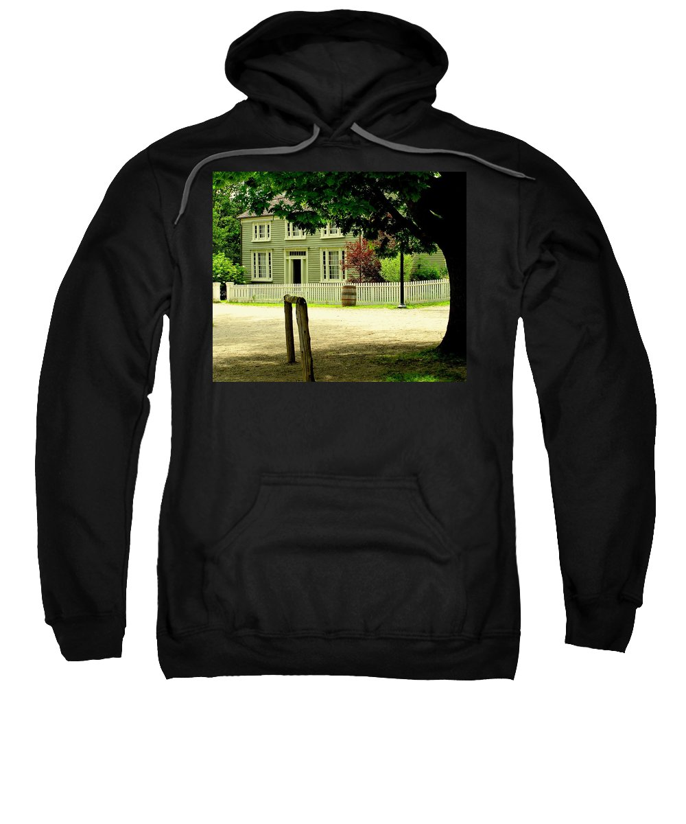 Hitching Post Sweatshirt featuring the photograph Hitching Post by Ian MacDonald