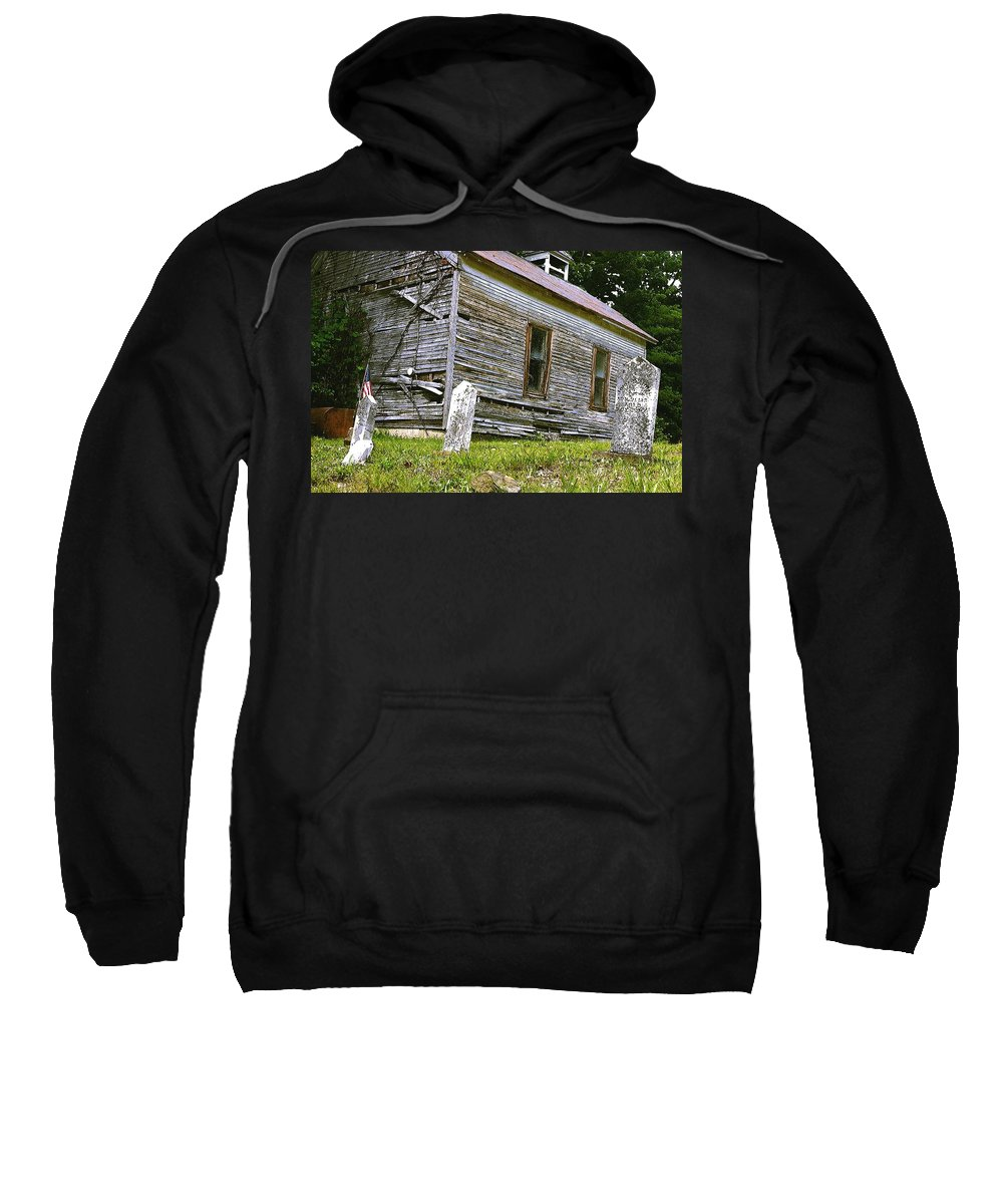 Church Sweatshirt featuring the photograph Hocking Hills Church by Nelson Strong