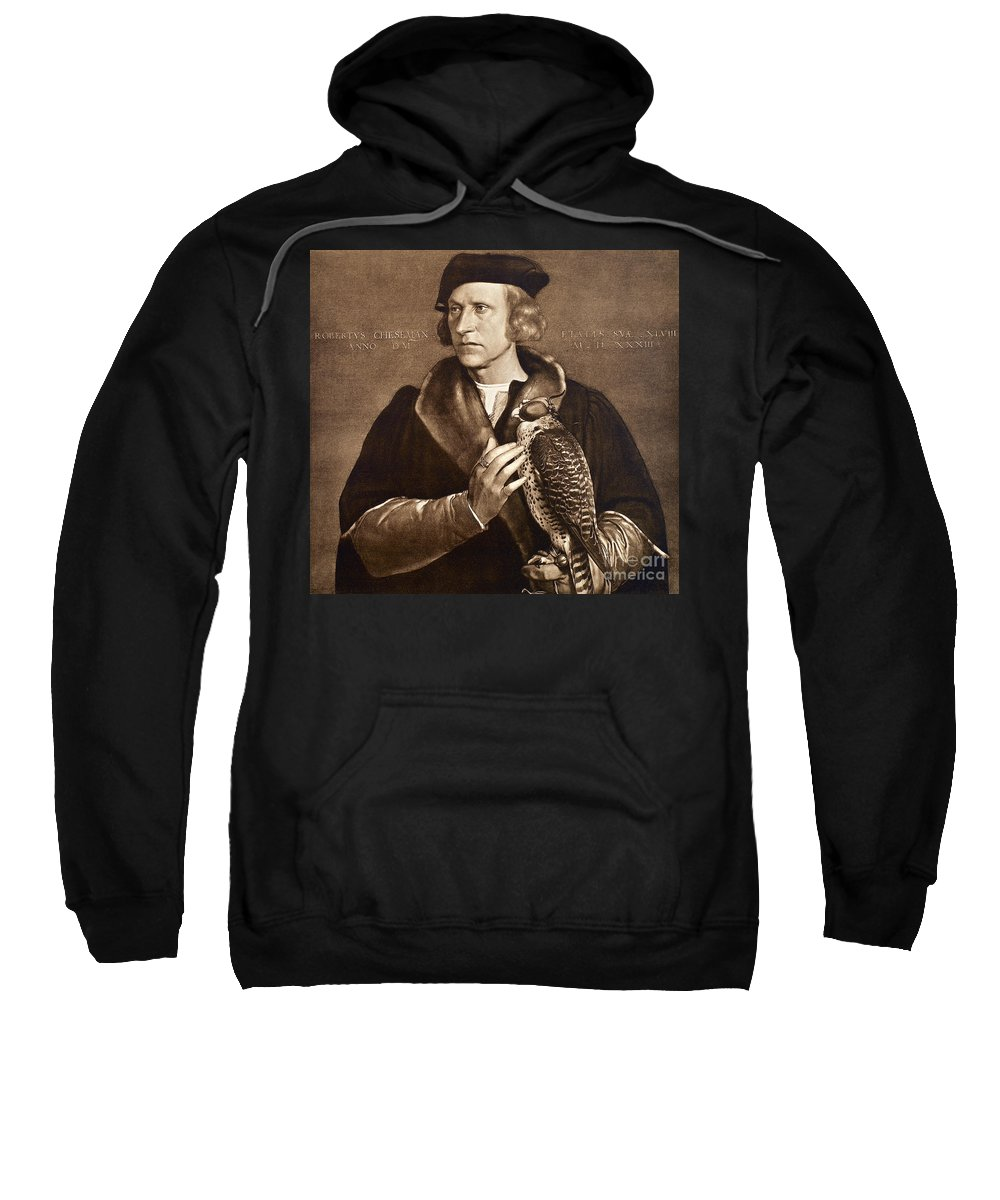 1533 Sweatshirt featuring the photograph Holbein: Falconer, 1533 by Granger