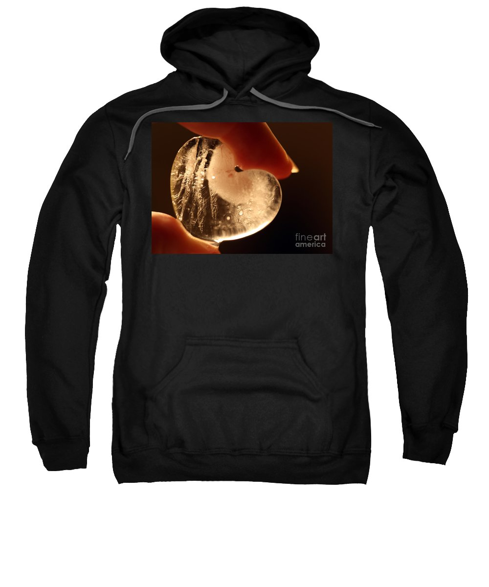 melting My Heart Sweatshirt featuring the photograph Holding On by Amanda Barcon