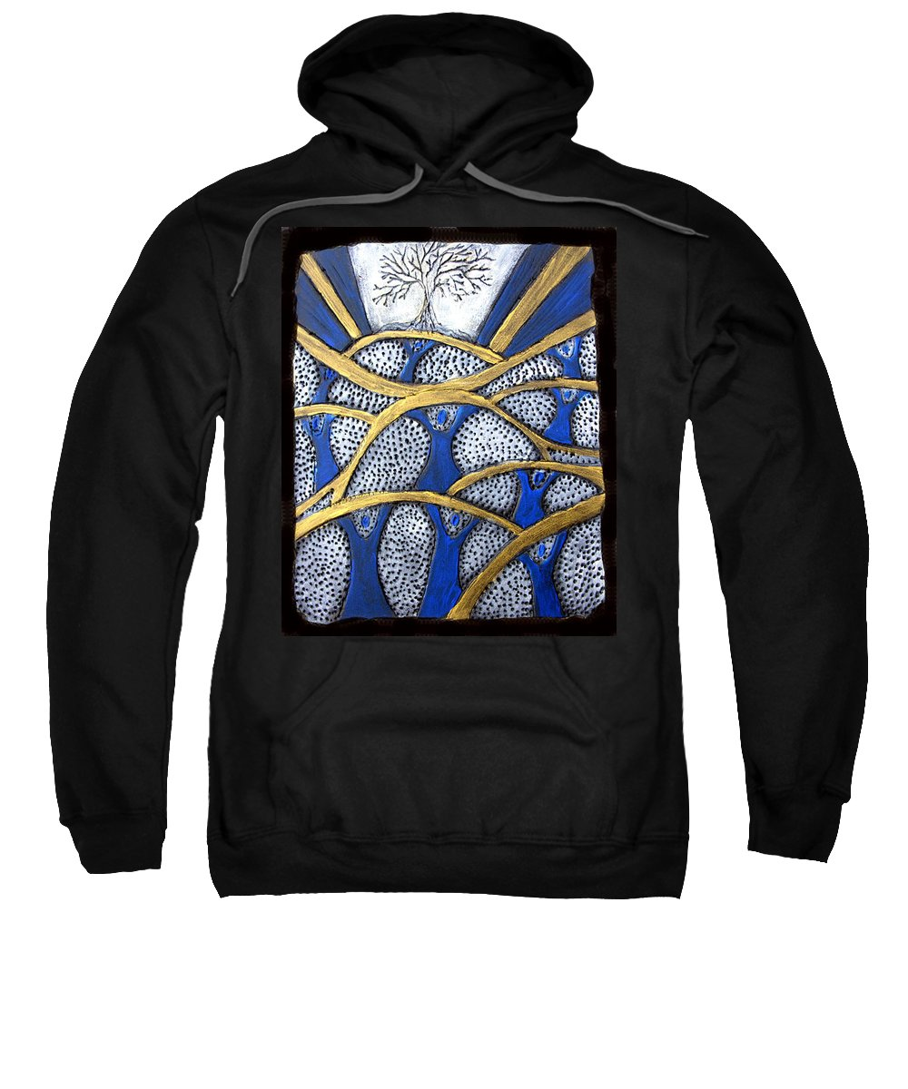 Tree Sweatshirt featuring the painting Holding Up The Family Tree by Wayne Potrafka