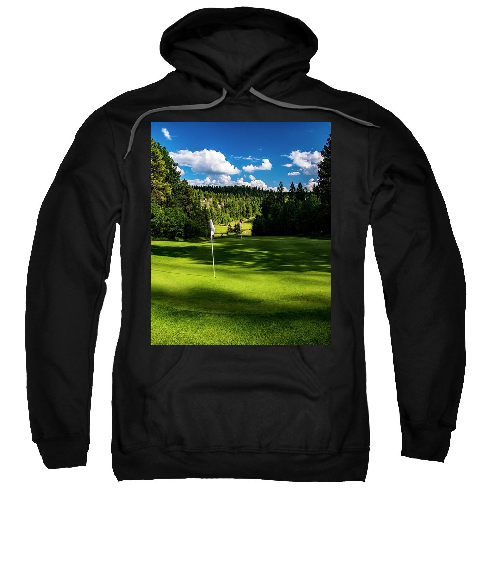 Golf Sweatshirt featuring the photograph Hole #9 by Ed Ostrander