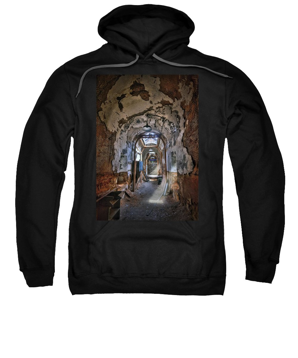 Abandoned Sweatshirt featuring the photograph Holes In The Walls by Evelina Kremsdorf