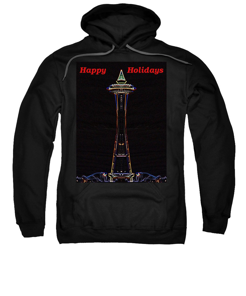 Seattle Sweatshirt featuring the photograph Holiday Needle 3 by Tim Allen