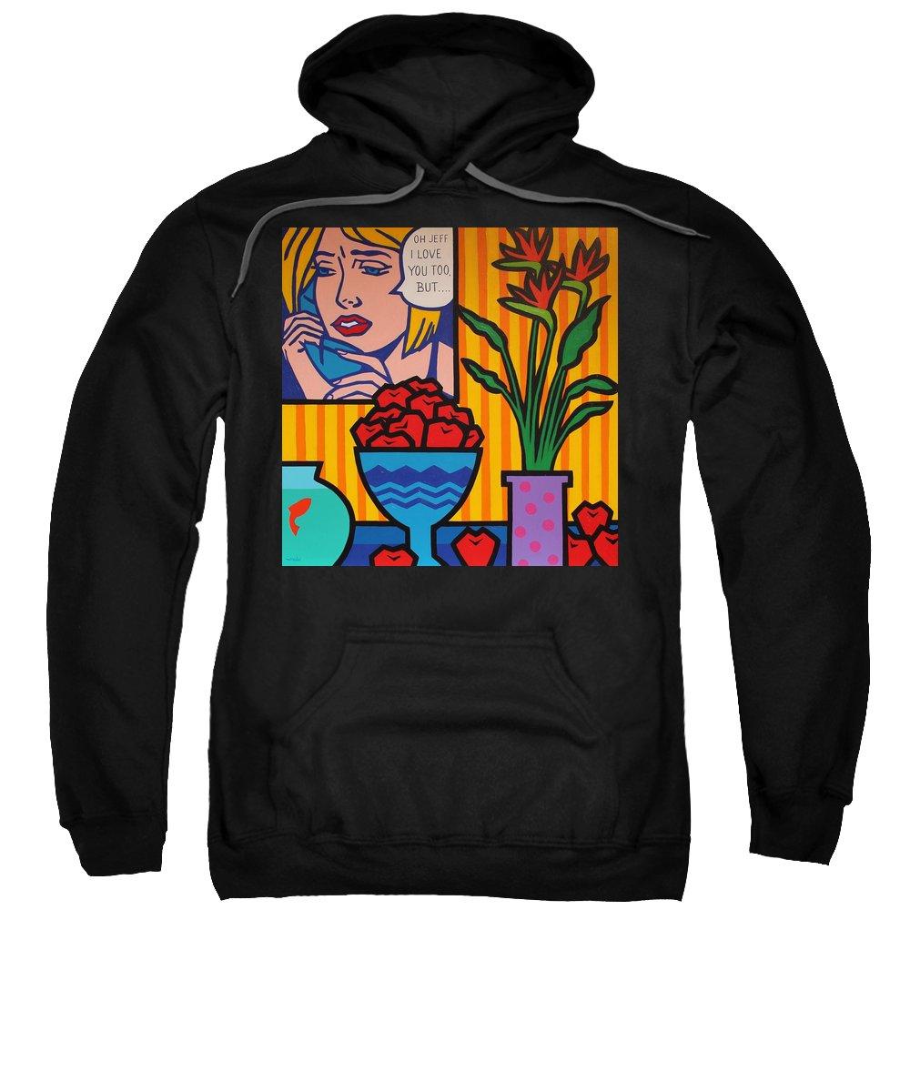 Matisse Sweatshirt featuring the painting Homage To Lichtenstein And Wesselmann by John Nolan