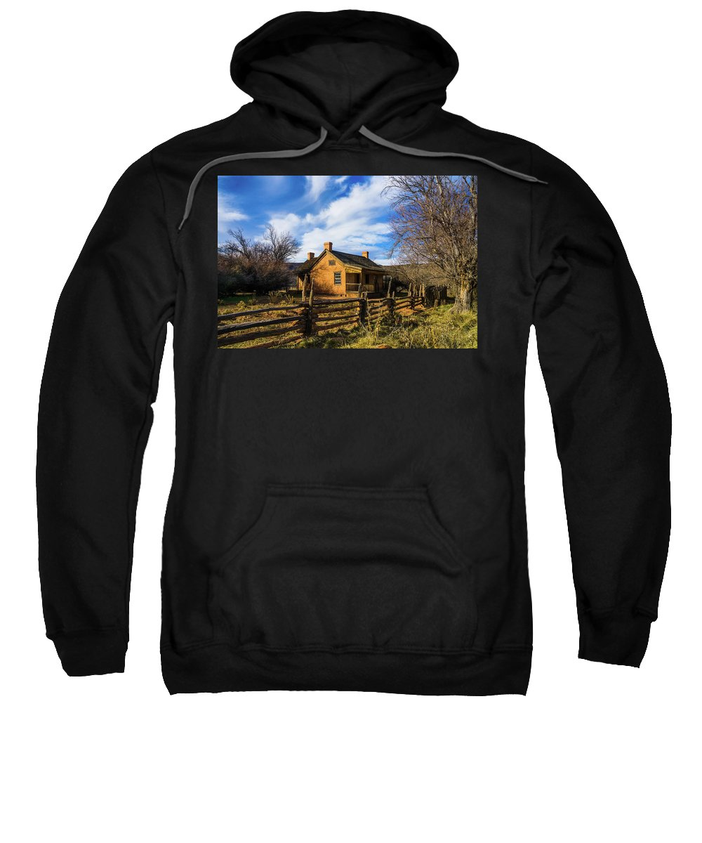 Clouds Sweatshirt featuring the photograph Home by Sheryl Trunick