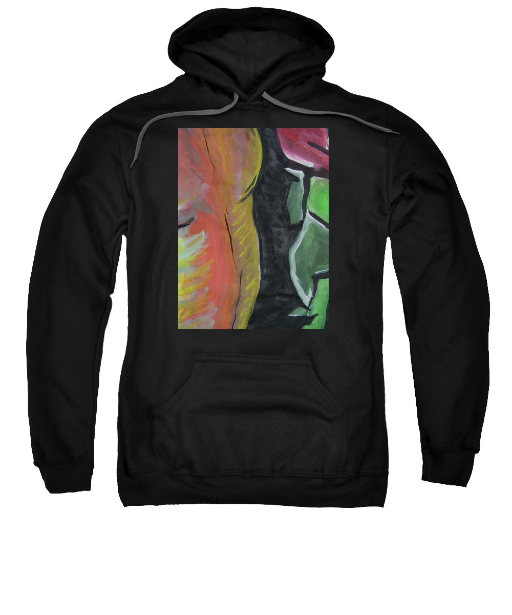 Man Body Sweatshirt featuring the painting Homem - Partes by Nila Poduschco